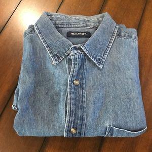 Puritan short sleeve denim shirt